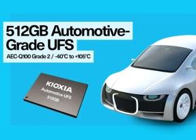 KIOXIA Europe presenta la prima memoria UFS da 512 GB per il settore automobilistico