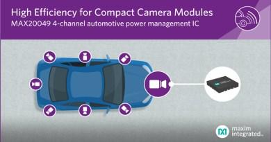 MAX20049, il più compatto IC di power management automotive a 4 canali per sensori telecamera