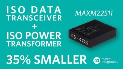 MAXM22511_Interno-420x236 Maxim presenta il più piccolo ed efficiente modulo RS-485 isolato