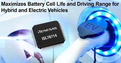 ISL78714, gestisce sino a 14 celle al litio ed estende la vita delle celle e la percorrenza dei veicoli elettrici e ibridi