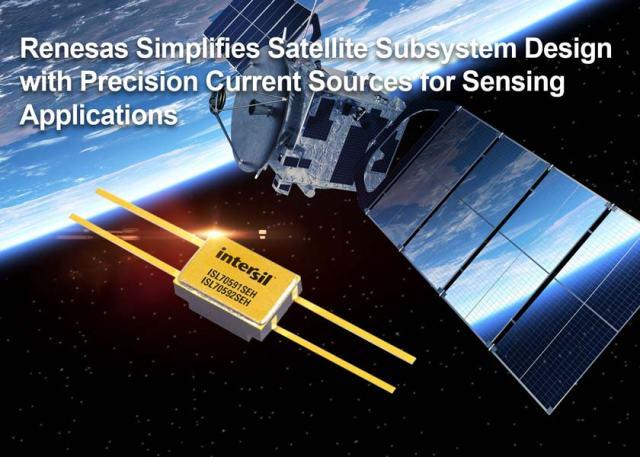 Renesas_REN0787_ISL70591SEH_ISL70592SEH-640x457 Generatori di corrente di precisione semplificano la progettazione di sottosistemi per satelliti
