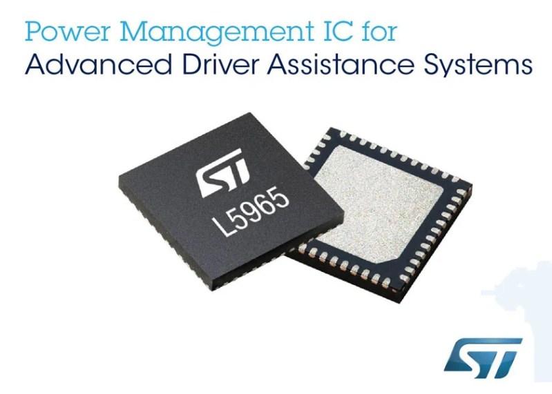 Da STMicroelectronics un PMIC per automotive a sette uscite