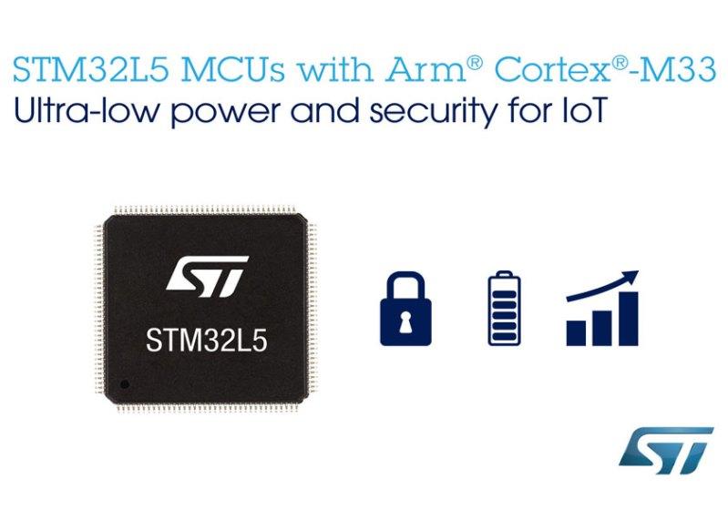 Bassissimo consumo ed elevato livello di sicurezza caratterizzano il nuovo micro STM32L5 destinato ad applicazioni IoT