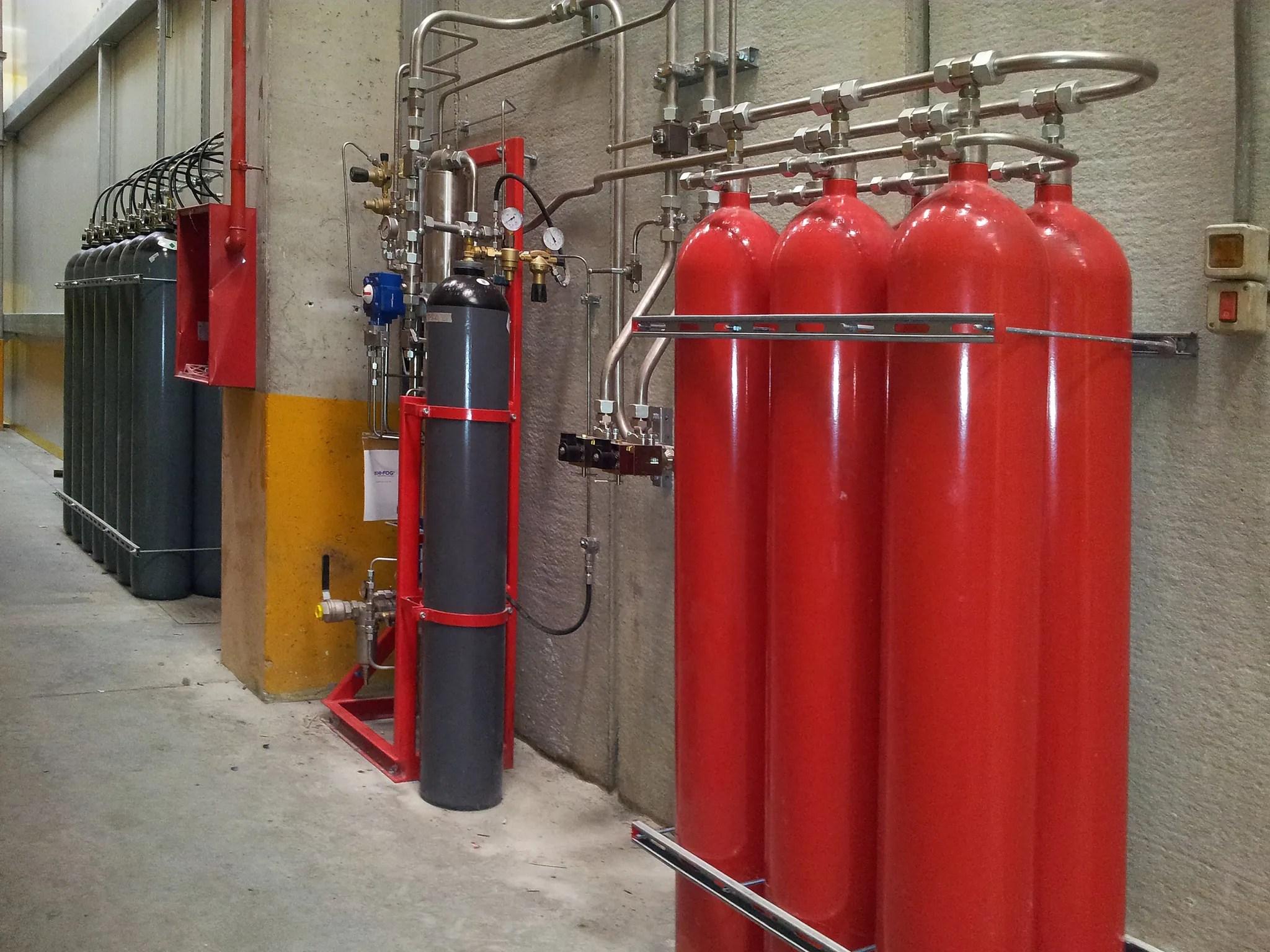 Impianto antincendio Spegnimento Gas