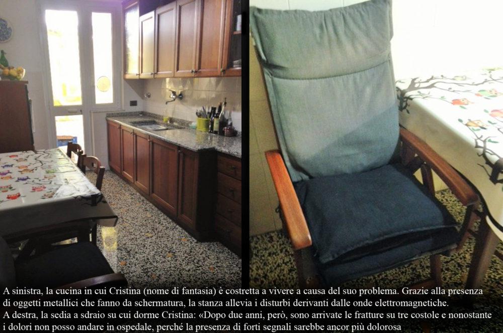 Cucina e sedia di Cristina