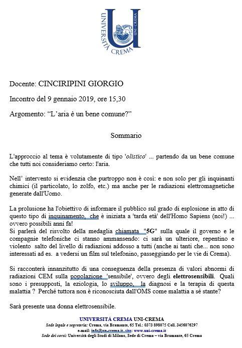Giorgio Cinciripini - L'aria è un bene comune?