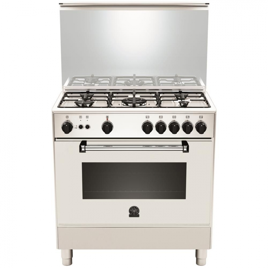 CUCINA A GAS LA GERMANIA AM85C71DW 5 FUOCHI A GAS FORNO A