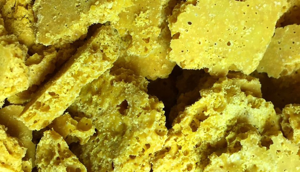 Honeycomb cannabis concentrate