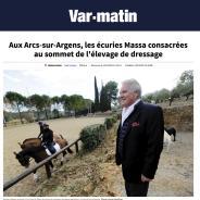 L'élevage Massa en UNE de VAR MATIN