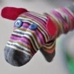 Juego simbolico con calcetín