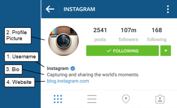 Optimizable Elements of Your Instagram Profile
