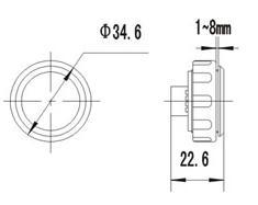 Elevator Button,AK20 Mirror Elevator Call Button For OTIS