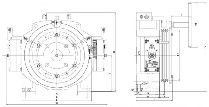 Small Lift Repair Parts Gearless Traction Elevator Motor