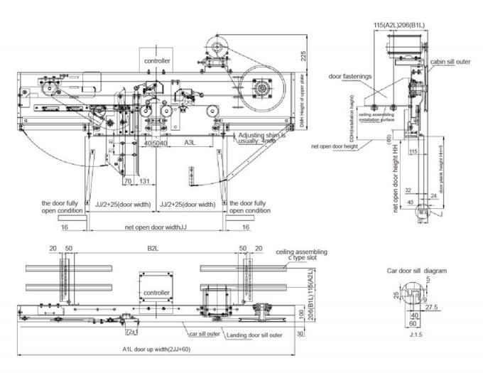Mitsubishi Elevator Door Operator Mechanism VVVF