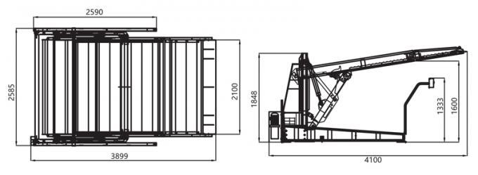 Low Ceiling 2585mm Width Garage Car Parking Lift