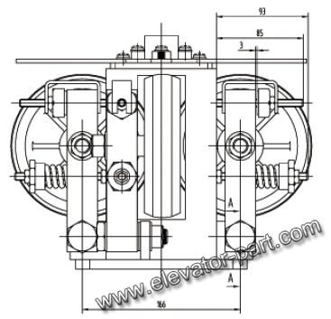 Roller Guide Shoe,GDX02 Lift Guide Shoe,Roller Guide Shoe