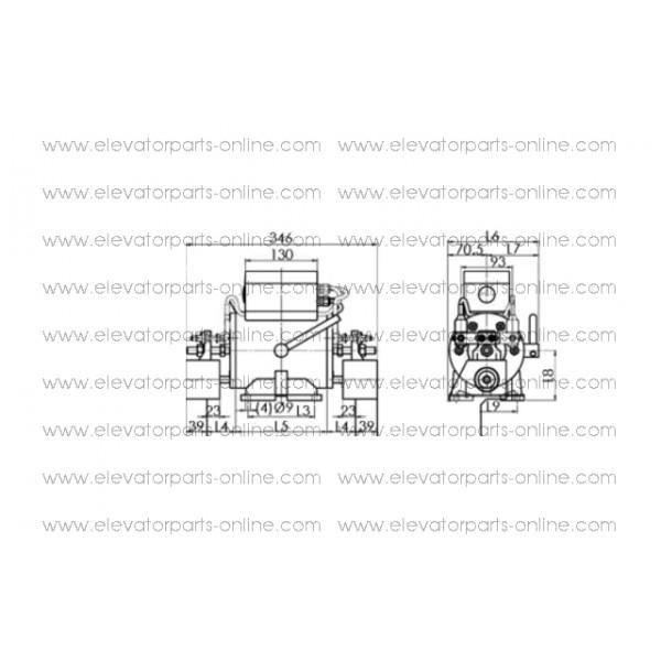 KIT ELECTROMAGNET ZIEHL 11D-N115D (230V 2 Micros