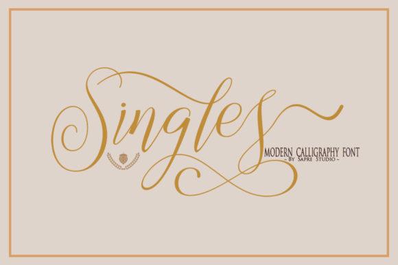 Singles Font