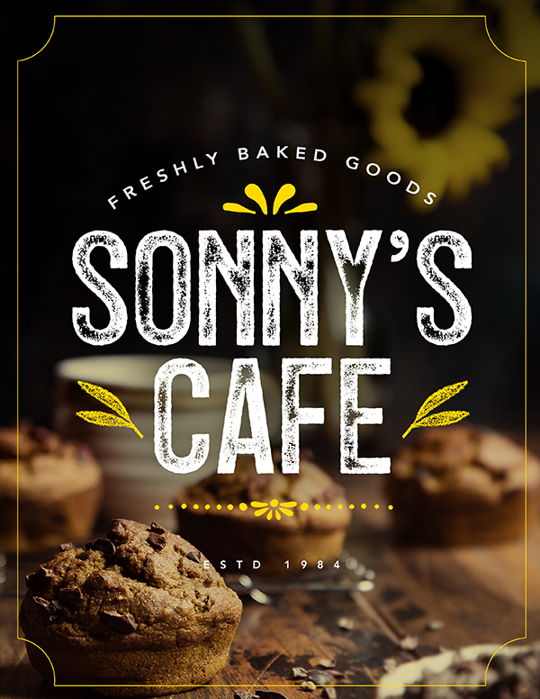 Sonny's Cafe Ad Tutorial & Freebie
