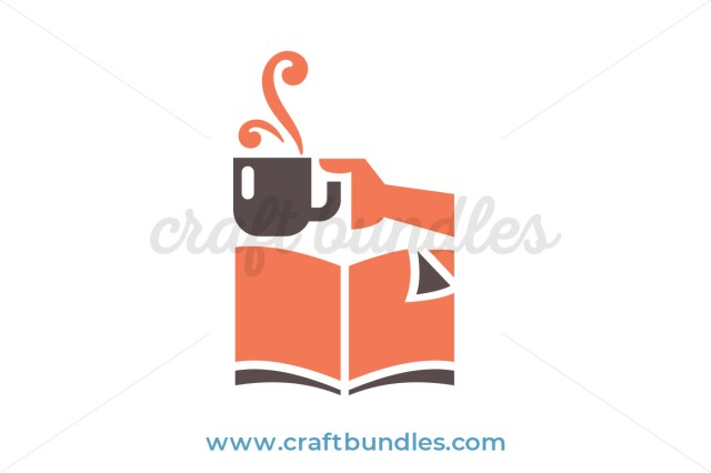 Book and Coffee SVG Cut File