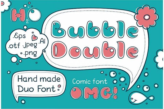 Bubble Double Duo font