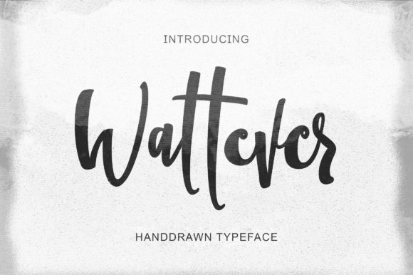 Wattever A Handwritten Script