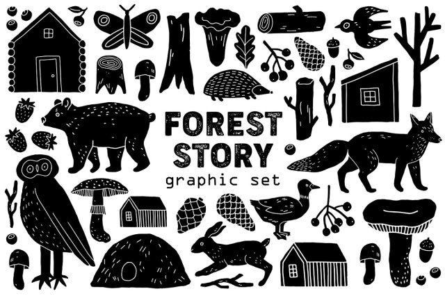 """Forest Story"" Graphic Set"