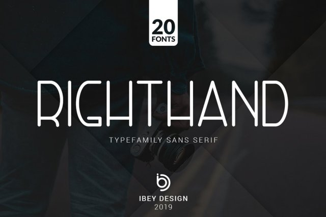 RightHand - 20 Fonts Included