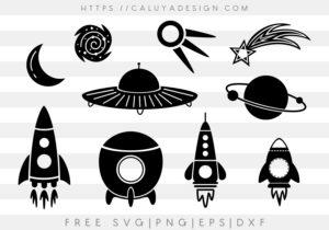 Space Rockets Monogram