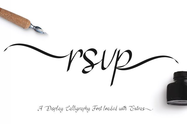 RSVP Calligraphy Font & Swatches