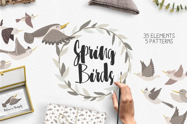 Spring Birds Collection
