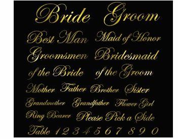 Wedding Sign Bundle Calligraphy Set