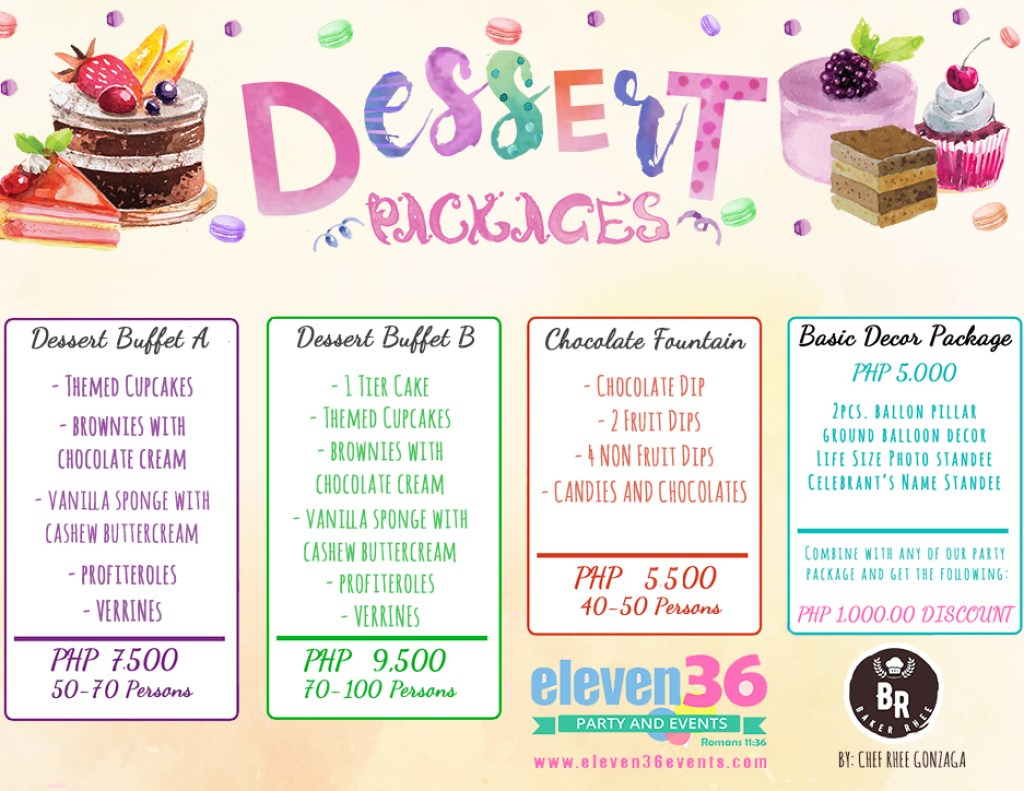 Dessert Buffet & Chocolate Fountain Packages - Cebu