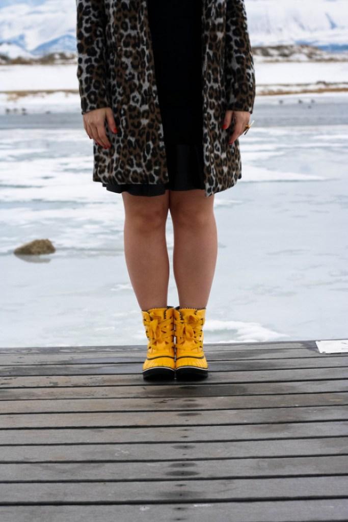 Sorel Yellow Rain Boots
