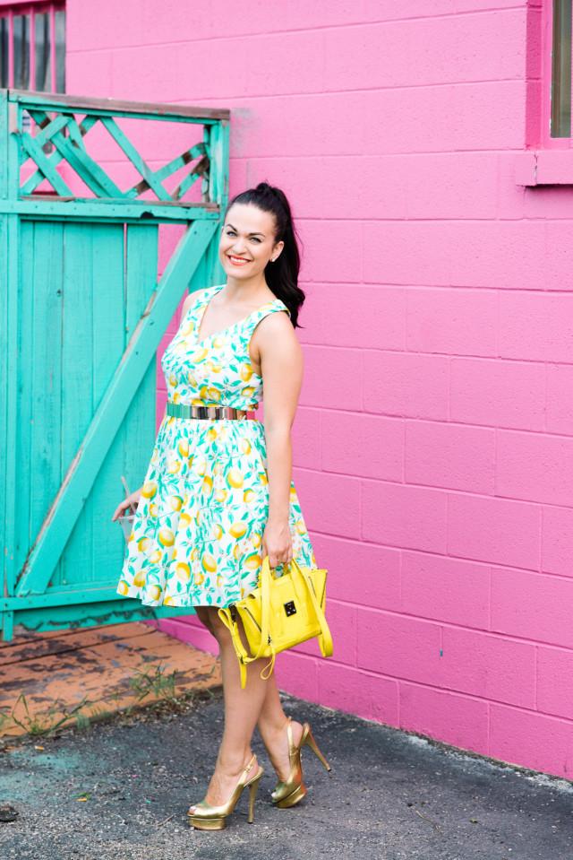 Kohls Lemon Print Dress