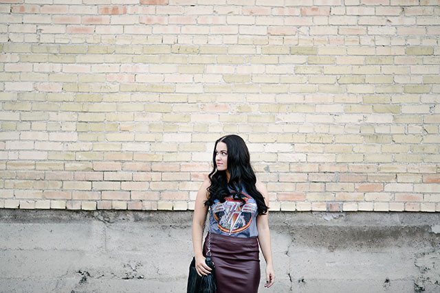 Oxblood Leather Skirt