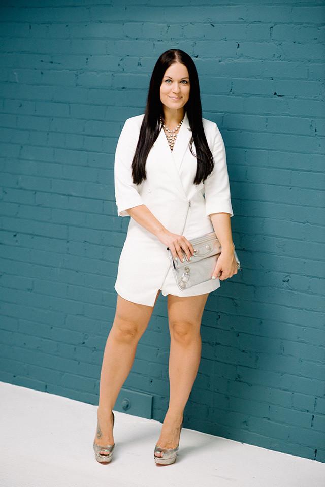White Tuxedo Dress