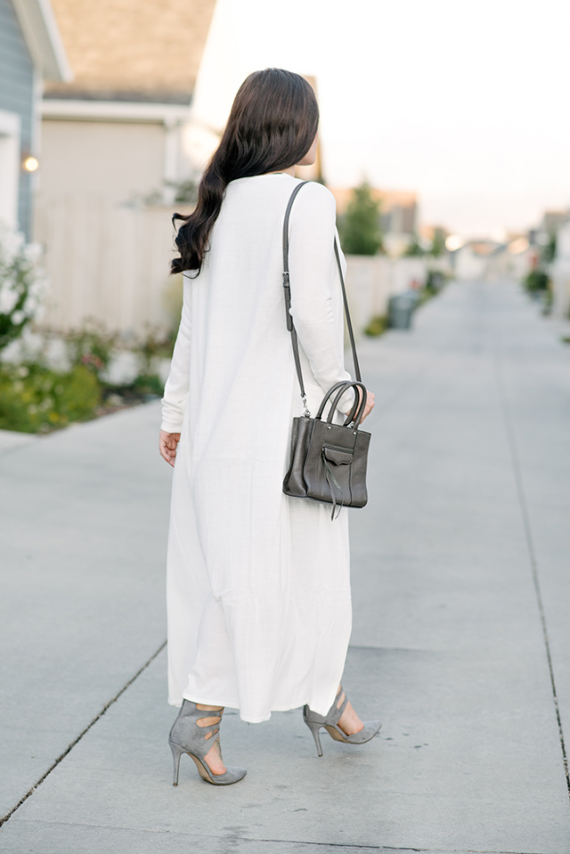 Cream Long Cardigan