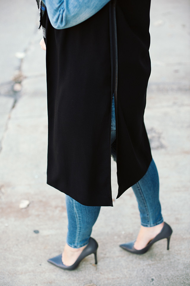 Black Longline Vest