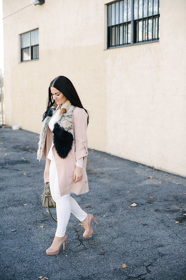 Winter White and Pink Outfit