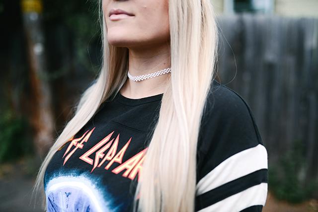 White Tattoo Choker Necklace