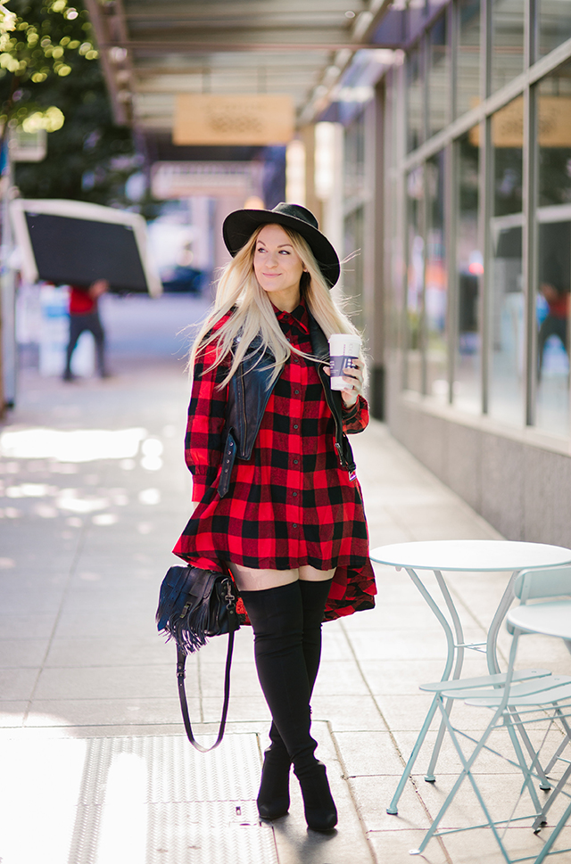 Plaid Dress Fall Outfit