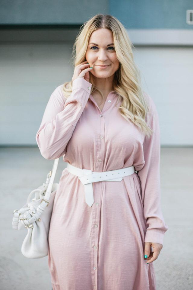 Long Sleeve Pink Dress