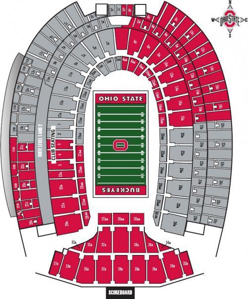 Ohio State Football Stadium Seating Chart View
