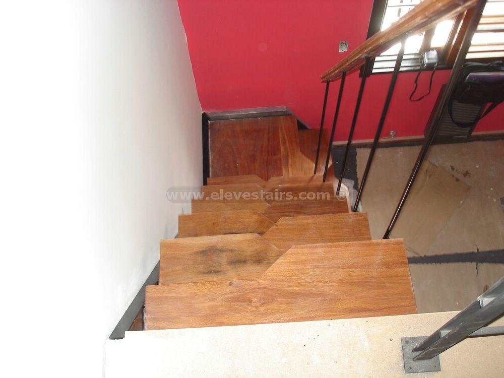Alternated Treads Stairs Design Space Saving Stairs   Wood Alternating Tread Stair   Loft Stairs   Thebestwoodfurniture   Stair Railing   Staircase Design   Tread Depth