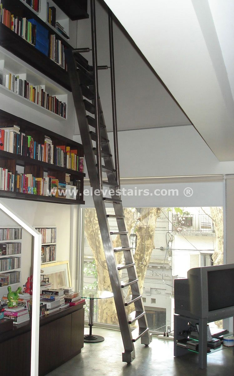 Sliding Or Mobile Stairs Library Stairs