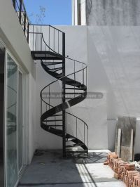 Spiral Stairs with Circular Tape for Interior and Exterior.