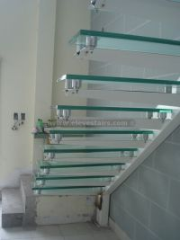 Straight Glass Stairs, Crystal Stairs