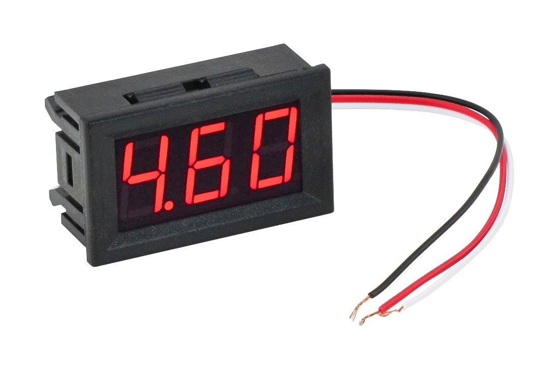 hight resolution of  red led panel meter mini digital voltometer dc 0 30v lc18