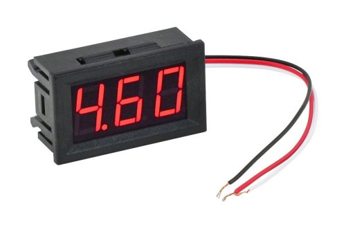 small resolution of  red led panel meter mini digital voltometer dc 0 30v lc18